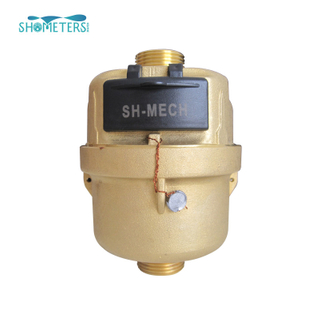 Class c 15 brass volumetric vertical dry dial water meter