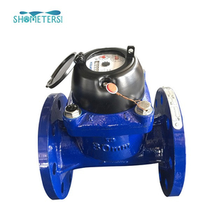 2 inch irrigation pulse output flange industrial woltman water meter with digital display