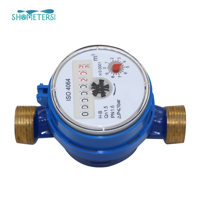 Dn15 brass single jet with pulse water flow meter