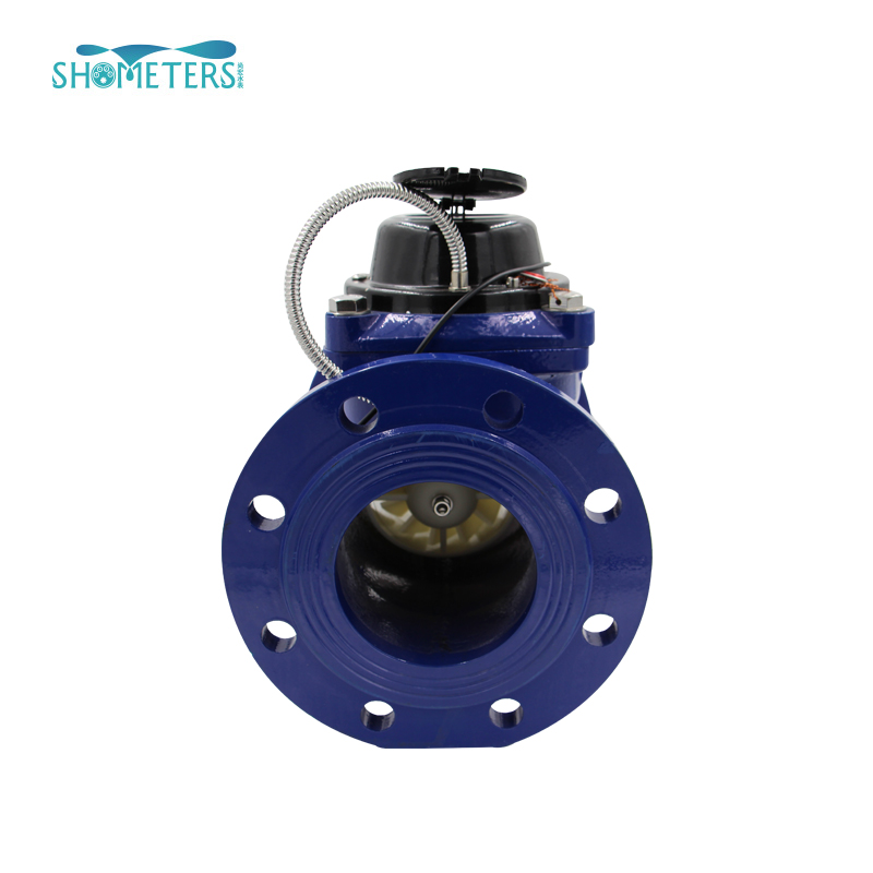 Horizontal turbine irrigation water flow meter