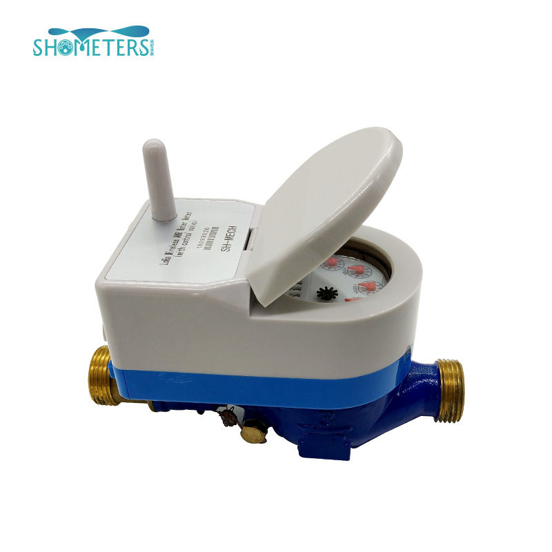 15mm iso4064 class b brass ball valve with lock lora water meter smart dry